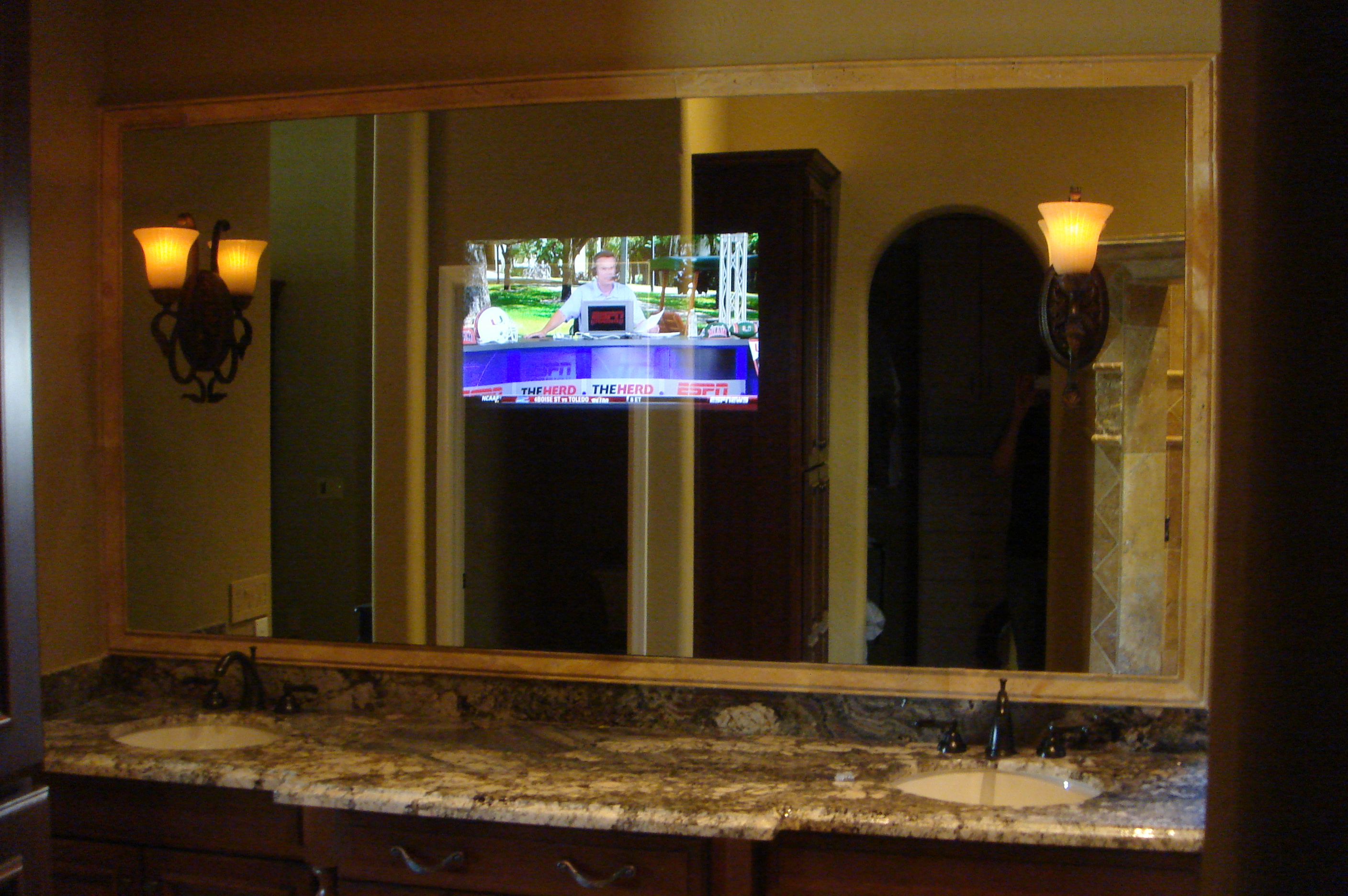 Bathroom Mirror With Tv tv behind bathroom mirror – ifll